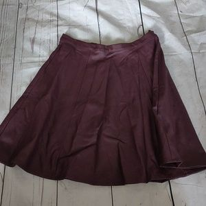 Dark purple leather skirt